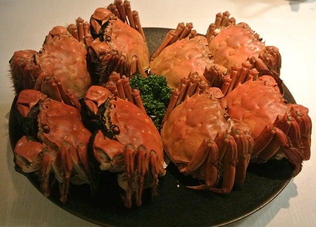 琥珀宮 上海蟹の雄&雌