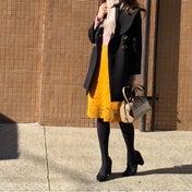 4色愛用のGUレーススカート...色×色でも大人っぽく合わせる秘訣♡