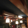店舗の工事! リネストラランプ仕様の行灯照明、中身をLED器具に交換です@豊島区池袋の画像