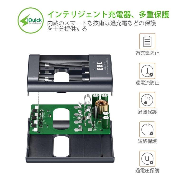 EBL iQuick UEB充電器