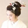 地毛結いの日本髪/文金高島田/結婚式、ヘアカラーの日本髪の画像