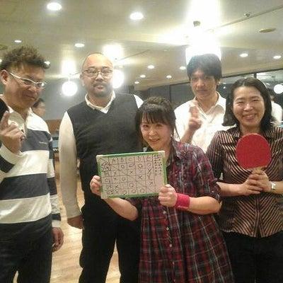最高人数の渋谷卓球(しぶたく)!大盛り上がりで優勝!!からの忘年会~♪の記事に添付されている画像