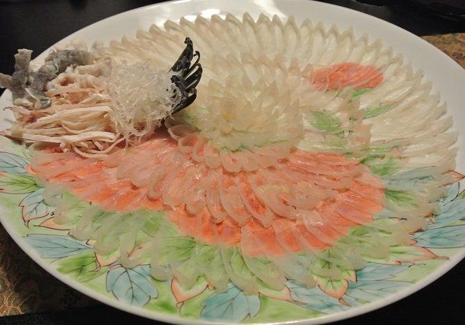 つきじ やまもと ふくお刺身菊造り