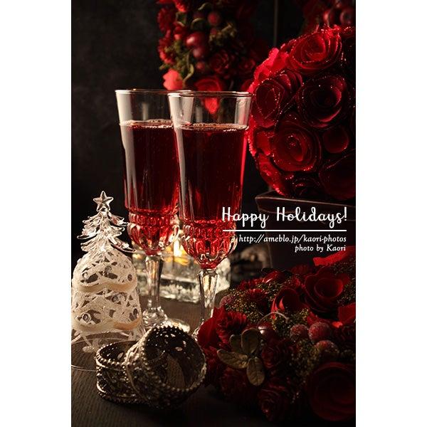 大人クリスマスのテーブルフォト②赤で決めるxmasに乾杯 世界