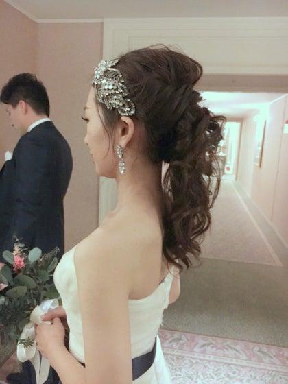 ジェニーパッカム 横浜ロイヤルパークホテル ウェディングドレス 出張ヘアメイク ミルフェリーチェ 花嫁写真