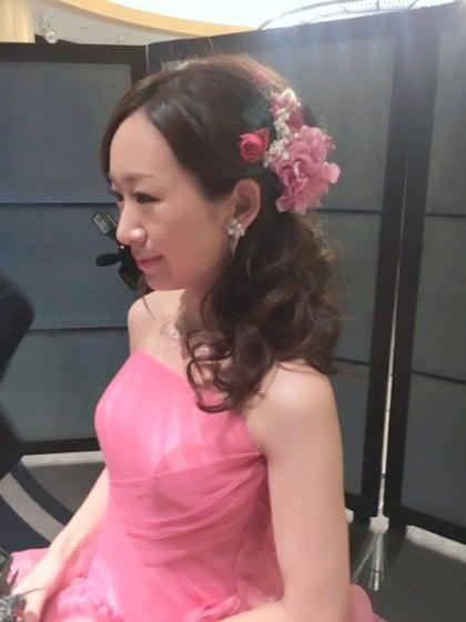 横浜ロイヤルパークホテル カラードレス チェリーピンク 出張ヘアメイク ミルフェリーチェ 花嫁写真