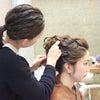 花嫁ヘアスタイル/ウエディングドレスの高めのまとめ髪の画像
