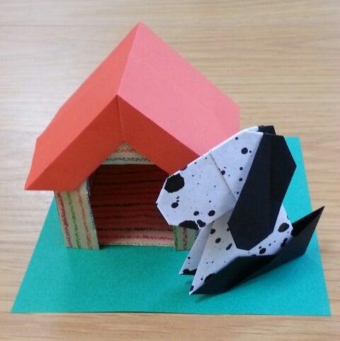 折り紙 犬 立体