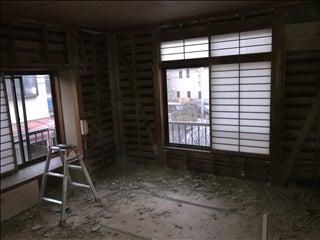 京都松室 2階の解体工事中