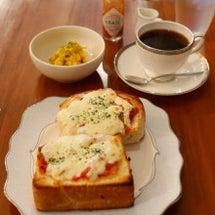 チーズピザトースト♡…