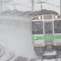 冬の北海道 【千歳線…