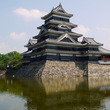 松本城をミラーレスカ…