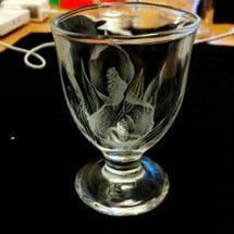 水芭蕉のミニグラス