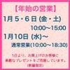 初売りは5日〜 プレゼントもご用意していますよ!西尾市クラフトハウスどれぃぶの画像
