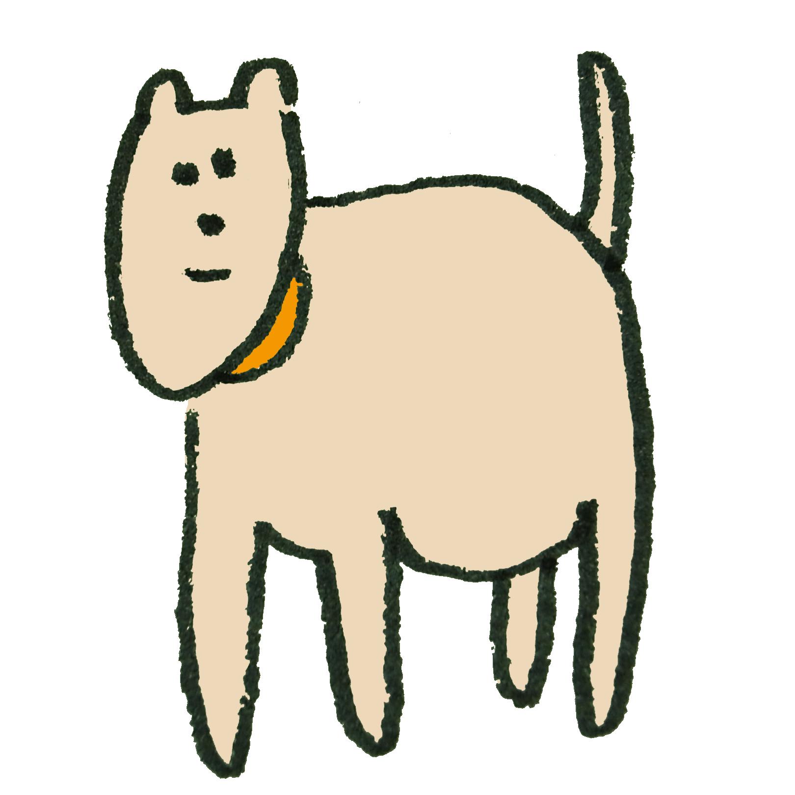 ピンク色の犬のイラスト | ゆるくてかわいい無料イラスト素材屋