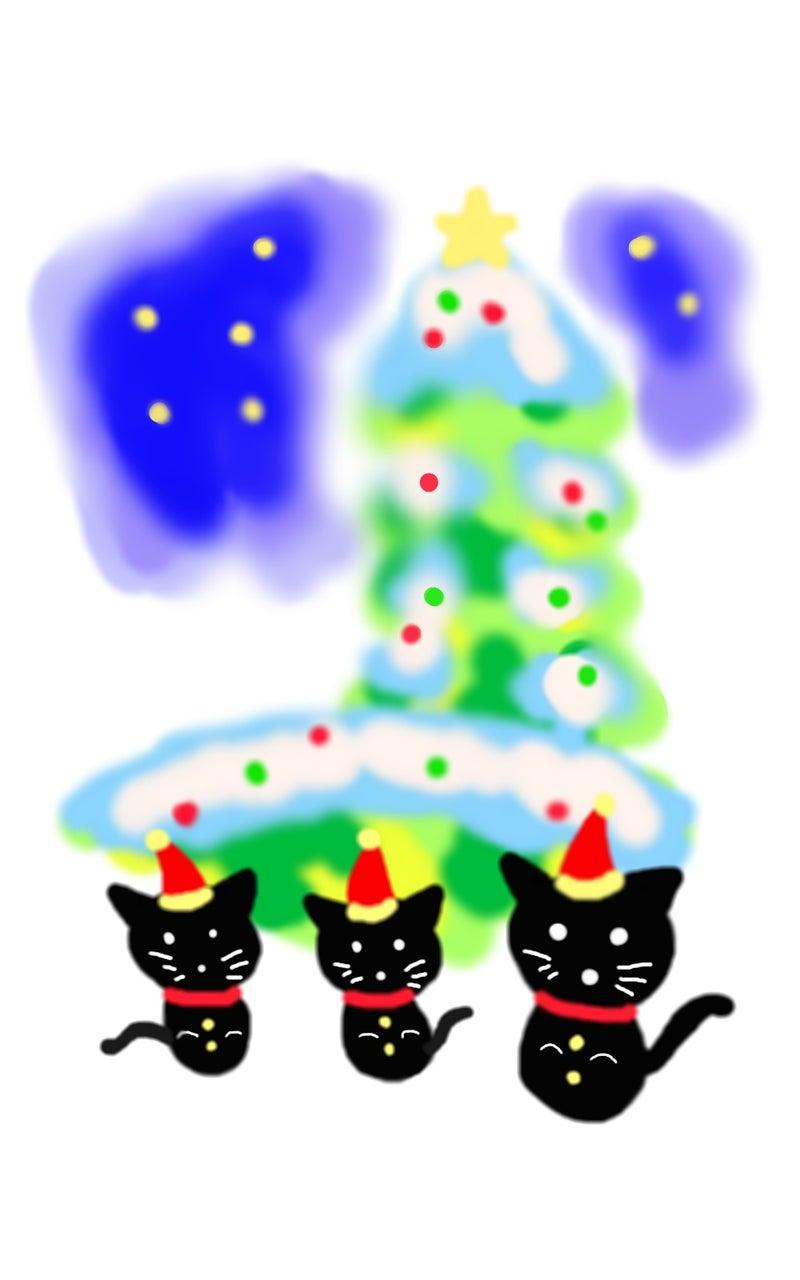 冬のイラスト作品クリスマスと猫サンタ 福猫datrumaの工房