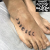 タトゥー:月:足の甲の画像