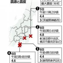 東京23区で震度4以…