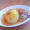 『kurashiru』さんを参考に作った『丸ごと玉ねぎスープ』