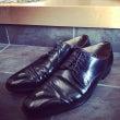 お洒落な靴磨き屋さん…