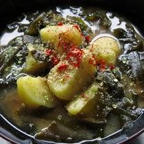 玄米ご飯に合う「ワカメとじゃがいもの味噌汁」の記事に添付されている画像
