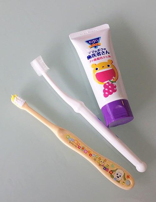 2歳_2歳歯科健診_歯磨き_仕上げ歯磨き