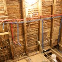 水道管と温水管工事