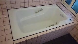 2倍の広さに増築した浴室