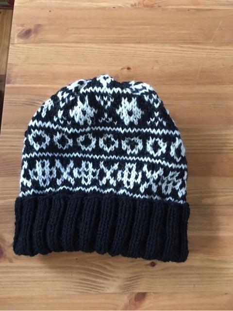 編み込み ニット帽 帽子 棒編み