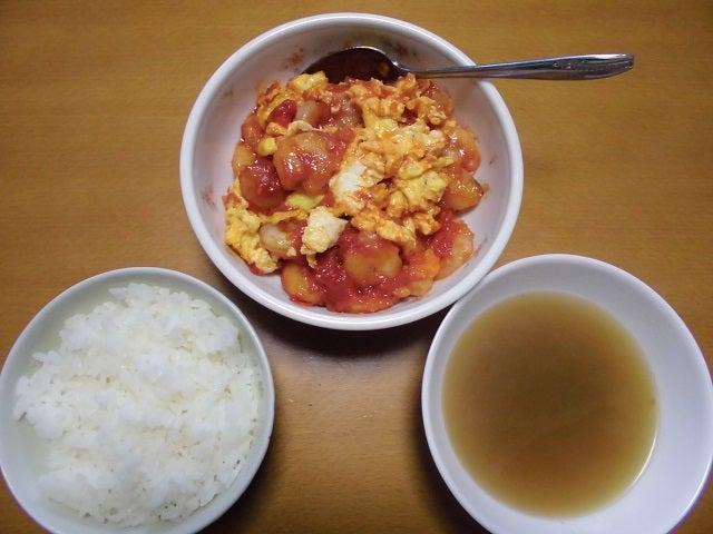 エビチリ卵炒め・スープ付