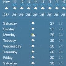 寒いシンガポール