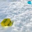 カラーキューブと雪遊…