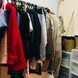 何度か着た洋服の置き…