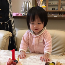 みーちゃん、1歳の誕…