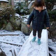 雪遊びできるほど降っ…