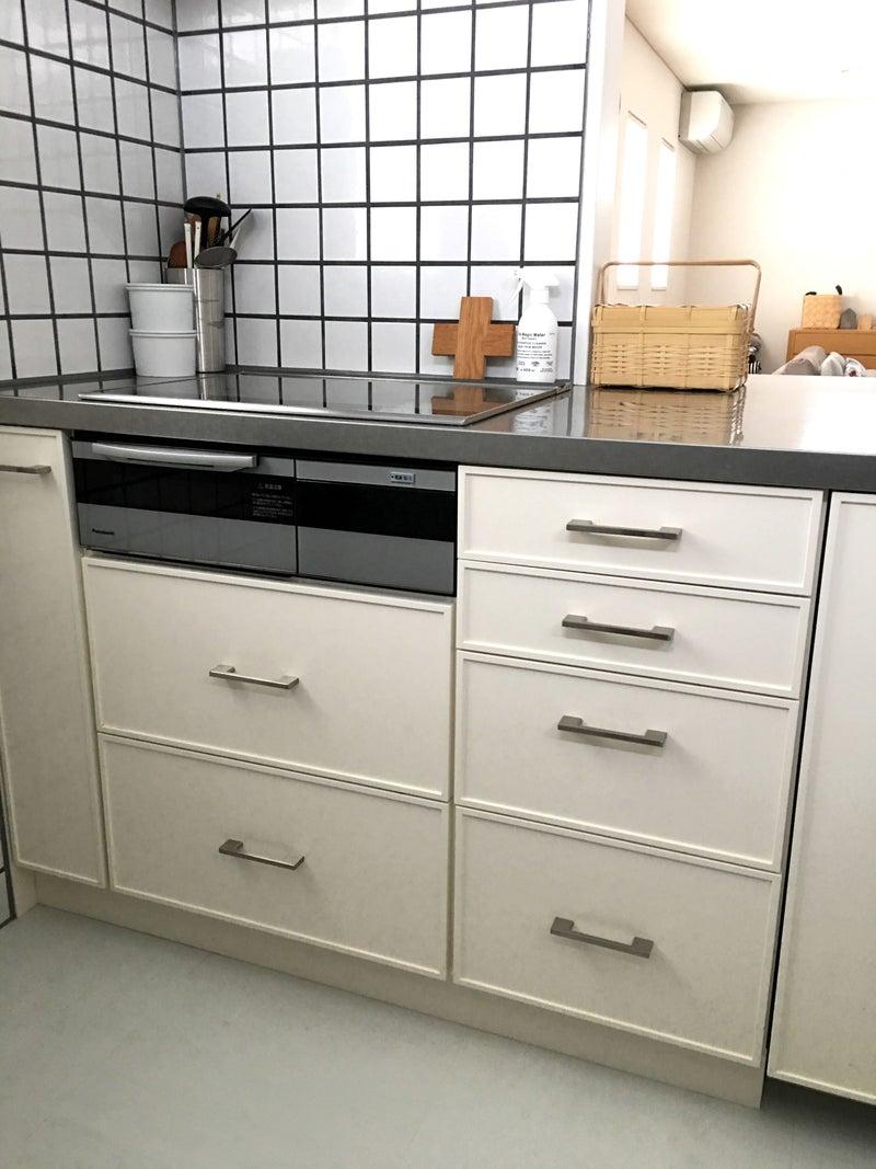 キッチンの引き出し収納 新入りの無印のラップケース