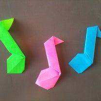 折り紙☆かわいい♪(音符)☆の記事に添付されている画像