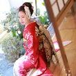 日本髪で振袖ロケ撮影…