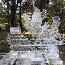 氷の彫刻@明治神宮
