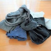 処分する靴下で、お掃除