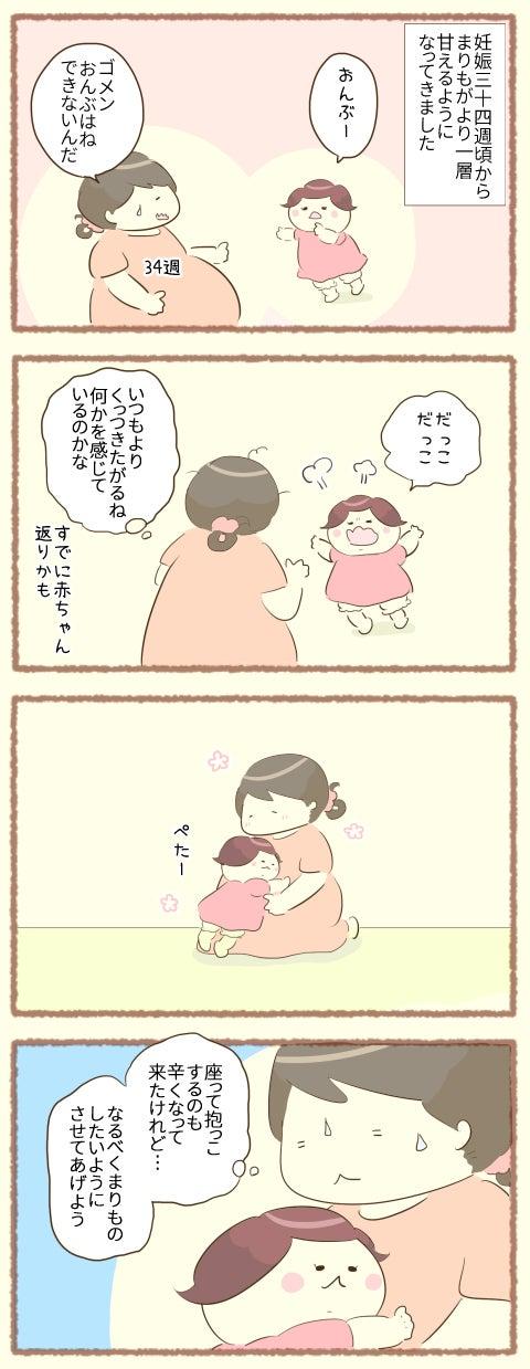【双子妊娠34週】まりも赤ちゃん返り?