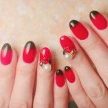 赤×黒 グラデフレン…