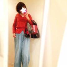 歳を取ると赤が着たい…