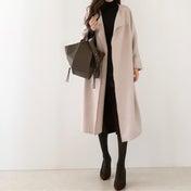 【coordinate】大人かわいいくすみピンクの春コート
