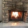 暖炉のあるサロン