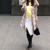 美ラインなプチプラニット♡イエローで春っぽコーデ
