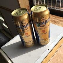 朝からビール!