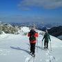 今年初の山頂コース