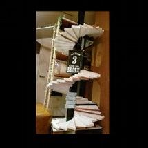 手作り猫用らせん階段…