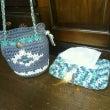 手編み ティッシュ箱…